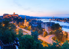 budapest noc widok Fotografia Royalty Free