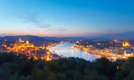 budapest noc widok Zdjęcie Stock