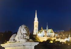 budapest noc widok Fotografia Stock
