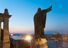 Budapest noc widok Zdjęcia Royalty Free