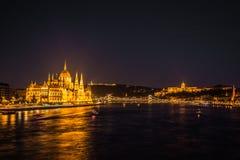 budapest noc widok Zdjęcie Royalty Free
