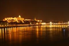 Budapest nocy widok Zdjęcie Royalty Free