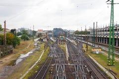 Budapest Nyugati dworca sztachetowa droga Węgry obraz royalty free