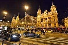 Budapest Nyugati kolei Terminal Fotografia Royalty Free