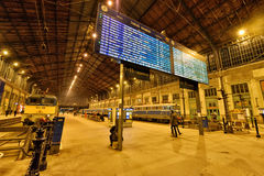 Budapest Nyugati kolei Terminal Obrazy Royalty Free