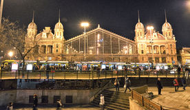 Budapest Nyugati kolei Terminal Zdjęcia Stock