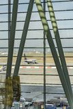 BUDAPEST, 10 OCTOBER 2017 - Ferihegy airport in Budapest, Hungary. stock photography