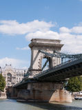 Budapest - The old Chain Bridge Stock Image