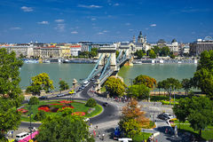 Budapest Old Chain Bridge Royalty Free Stock Images
