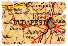 Budapest old map Royalty Free Stock Photography