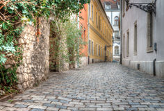 Budapest. The old narrow streets of Budapest Royalty Free Stock Image