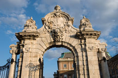 Budapest, Ornate Arched Gateway Stock Photography