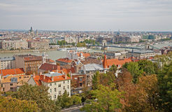 Budapest - outlook from Buda Royalty Free Stock Photography