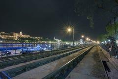 Budapest på natten, Ungern Royaltyfri Bild