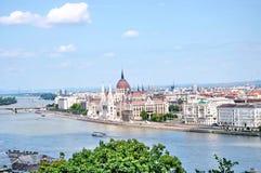 budapest panorama Royaltyfria Bilder