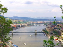 Budapest panorama. With the Danube river in springtime stock image