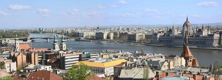 budapest panorama Royaltyfri Bild