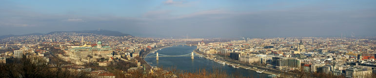 Panorama of the Budapest, landmark attraction in Hungary Top view Stock Photo