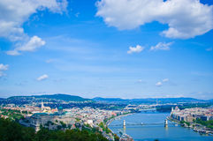 budapest panorama Royaltyfri Fotografi