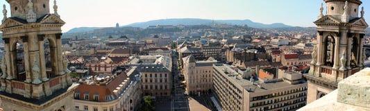 Budapest panorama Fotografering för Bildbyråer