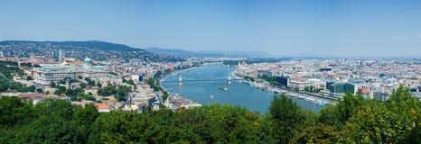 budapest panorama Arkivfoton