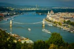 Budapest panorama Arkivbild