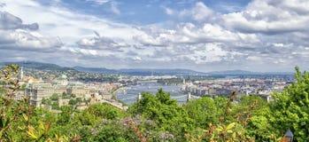 budapest panorama Arkivfoto