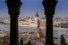 Budapest panorama from above Royalty Free Stock Images