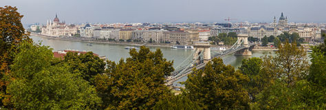 Budapest Panorama from Castle Hill Royalty Free Stock Photos