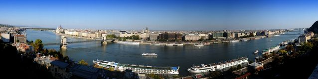 Budapest panorama of the Danube Stock Photo