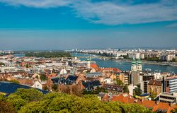 Budapest panorama from the Fisherman's Bastion. stock photography