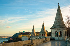 Budapest panorama from Fisherman's Bastion Royalty Free Stock Images