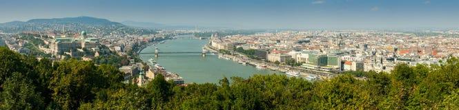 Budapest panorama- flyg- sikt Royaltyfri Foto