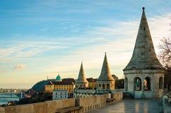 Budapest panorama från fiskares bastion Royaltyfria Bilder