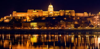 Budapest panorama by night Stock Image
