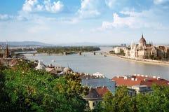 budapest panorama- sikt Royaltyfri Fotografi