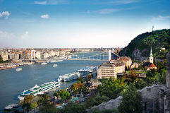 budapest panorama- sikt Arkivbild