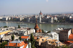 budapest panorama- sikt Royaltyfria Foton