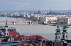 budapest panorama- sikt Royaltyfri Foto