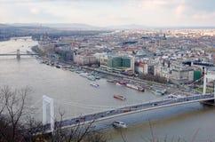 budapest panorama- sikt Arkivfoton