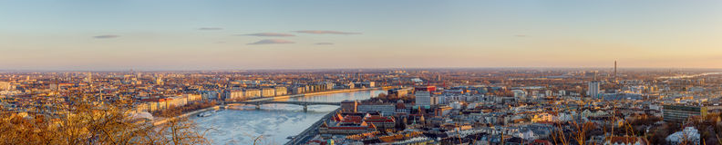 Budapest panorama, Ungern Arkivfoto