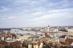 Budapest panorama, Ungern Arkivbilder