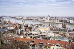 Budapest panorama, Ungern Arkivfoton