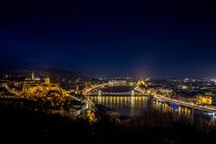 Budapest panorama, Ungern Royaltyfri Fotografi