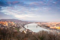 Budapest panorama, Ungern Royaltyfria Bilder