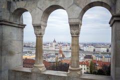 Budapest panorama, Ungern Royaltyfri Foto