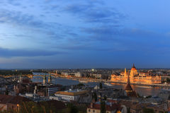 Budapest Panorama.View from the Buda Castle royalty free stock images