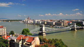 Budapest panorama view Stock Images