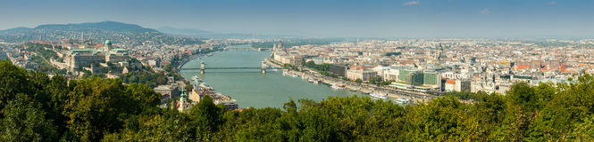 Budapest panoramic aerial view royalty free stock photo