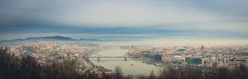 Budapest panoramic view. From hellert hill. Hungary Stock Images